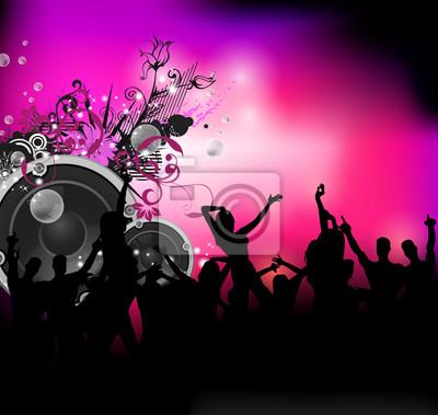 Party-Sound-Hintergrund mit tanzenden Menschen
