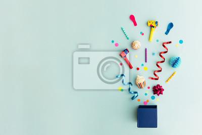 Bild Partyobjekte in einer Geschenkbox