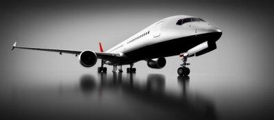 Bild Passagierflugzeug im Studio oder Hangar. Flugzeug, Fluggesellschaft