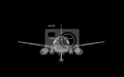 Bild Passagierflugzeug x-ray