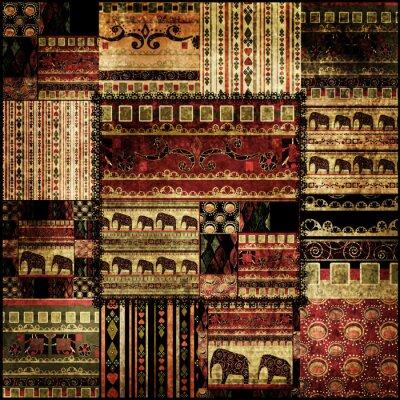Bild Patchwork afrikanischen Muster drucken Hintergrund