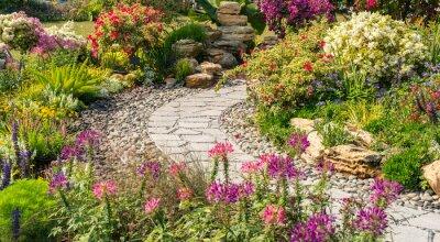 Bild path leading through a garden