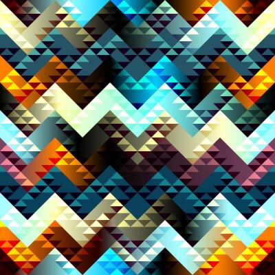 Bild Pattern in Azteken-Stil auf Chevron Hintergrund.