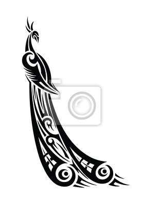 Peacock Tribal Tattoo - Vektor-Illustration