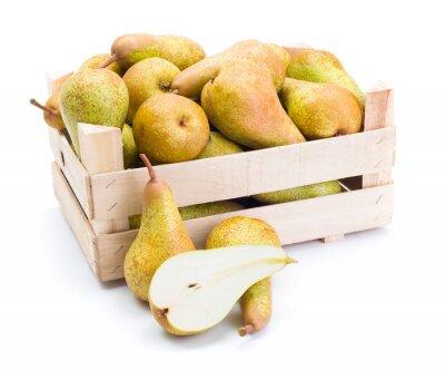Bild Pears in wooden box