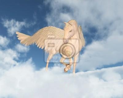 Pegasus Blick nach unten durch Wolken