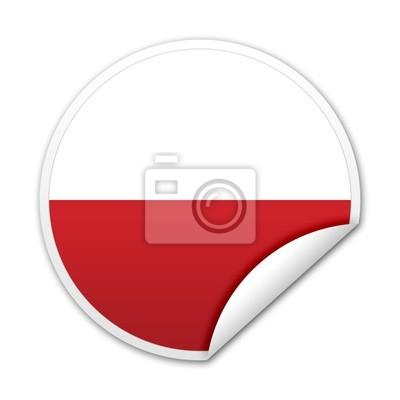 Pegatina Bandera Polonia con reborde