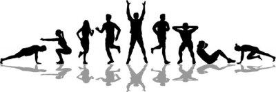 Bild People Fitness Workout Silhoutte