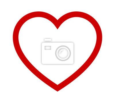 Bild Perfektes Herz / romantisches Herz der Liebe Linie Kunst-Symbol für Dating-Anwendungen und Websites