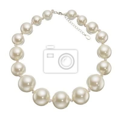 Bild Perlen Kreis isoliert auf weißem Hintergrund.