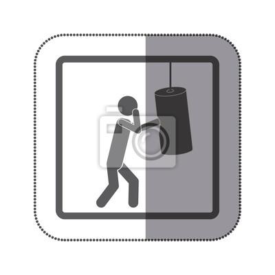 Person üben Boxen Symbol, Vektor-Illustration Design-Bild
