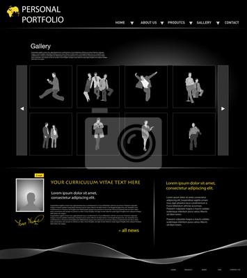 persönliches Portfolio Website-Templates mit Geschäftsleuten