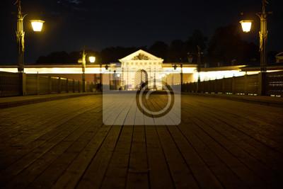 Peter und Paul Festung in der Nacht