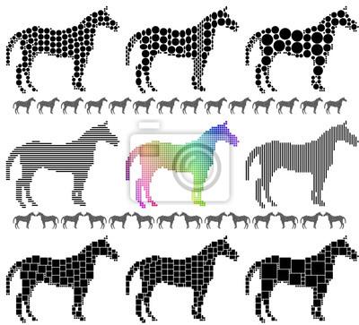 Pferd Silhouette Mosaik-Set