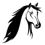 Pferdekopf Schwarz Weiß : laufende pferd seitenansicht kontur und silhouette ~ Watch28wear.com Haus und Dekorationen