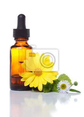 Pflanzliche Arzneimittel oder Aromatherapie Tropfflasche