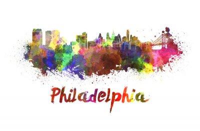 Bild Philadelphia-Skyline in Aquarell