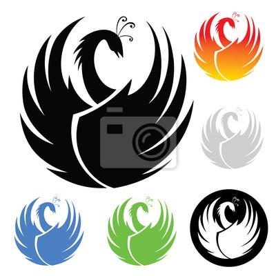 Phoenix Symbol - Vektor-Illustration