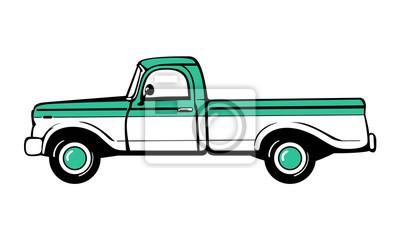 Pickup-Truck. Klassischer LKW. Isolierten Vektor-Illustration