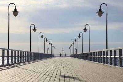 Bild Pier in den Morgen.