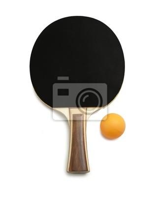 Ping Pong Paddel und Kugeln