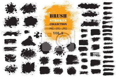 Bild Pinselstrich-Farbkästen eingestellt