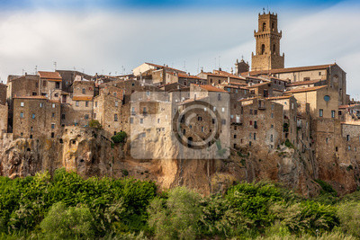 Pitigliano Stadt auf der Klippe, Toskana, Italien