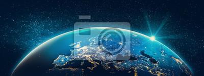 Bild Planet Earth - Europe city lights
