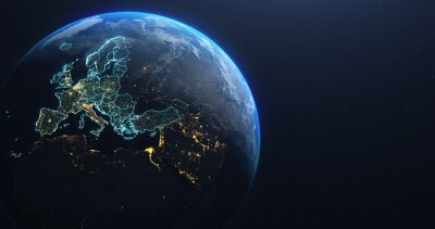 Bild Planet Earth from Space EU Europe Countries highlighted