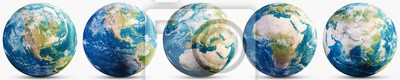 Bild Planet Earth geography map set