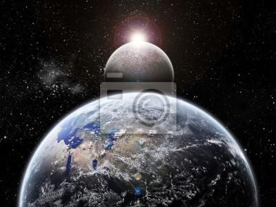 Planet Earth Halo - Univers Erforschung - Mond Verfinsterung