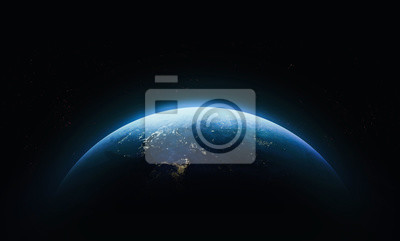 Bild Planet Earth in outer space. Civilization. Elements of this image furnished by NASA