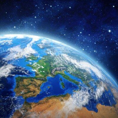 Bild Planet Erde im Weltraum