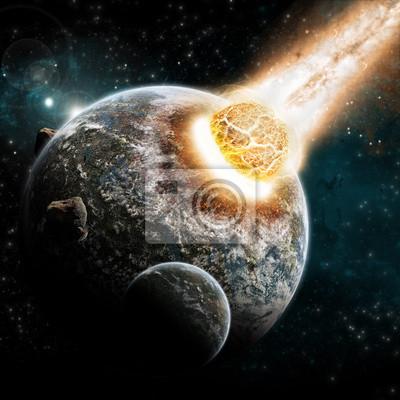 Planet Explosion - Universe Exploration - Erde Apokalypse