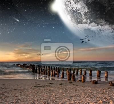 Planet Landschaft Blick vom Strand