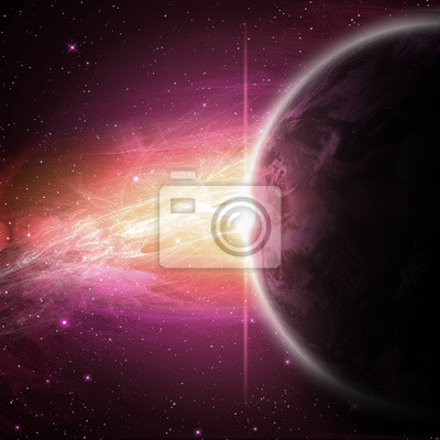 Planeten im Raum