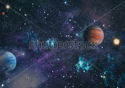 Bild Planeten, Sterne und Galaxien im Weltraum zeigen die Schönheit der Weltraumforschung. Elemente von der NASA eingerichtet