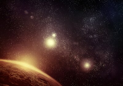 Bild Planeten und Sternenfeld