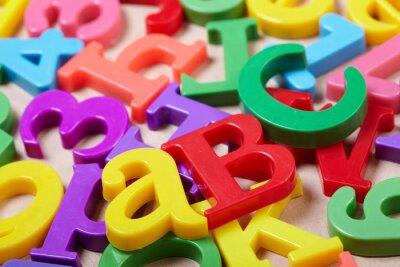 Bild Plastic Buchstaben des Alphabets