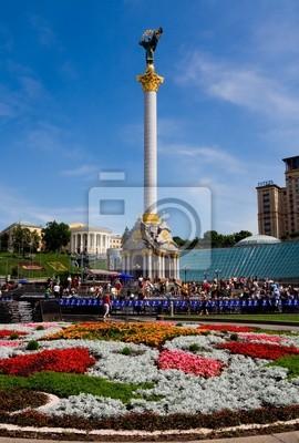 Bild Platz der Unabhängigkeit in Kiew Ukraine
