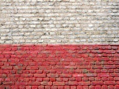 Bild Polen-Flagge auf eine Wand gemalt