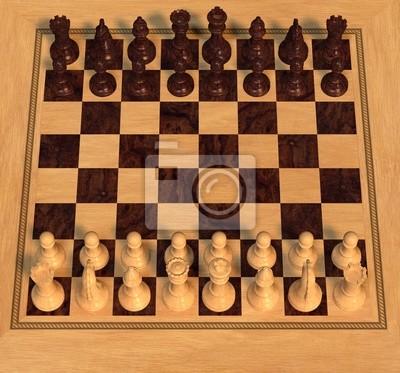 Poliertem Holz Schach-Set