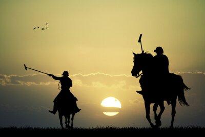 Bild Polospieler auf Pferden