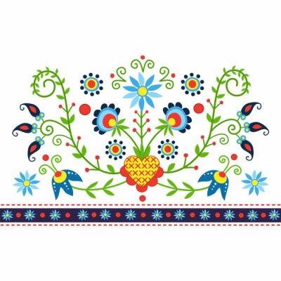 Bild Polski wzór ludowy z Kaszub - inspiracja