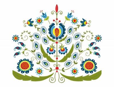 Bild Polski Wzór z dekoracyjnymi kwiatami