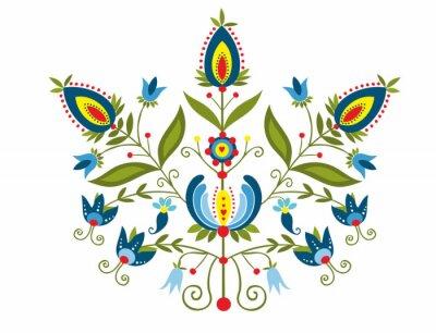 Bild Polski Wzór z ozdobnymi kwiatami