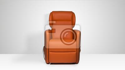 Poltrona in pelle leinwandbilder u bilder abfedern couch sessel
