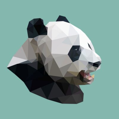Bild polygonale panda, Polygon abstrakte geometrische Tier, Vektorillus