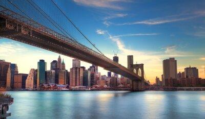Bild Pont de Brooklyn Vers Manhattan, New York.