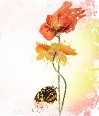 Bild Poppy Flowers Watercolor